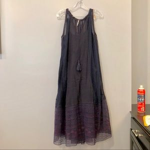 Free People Navy Maxi Dress (xs)